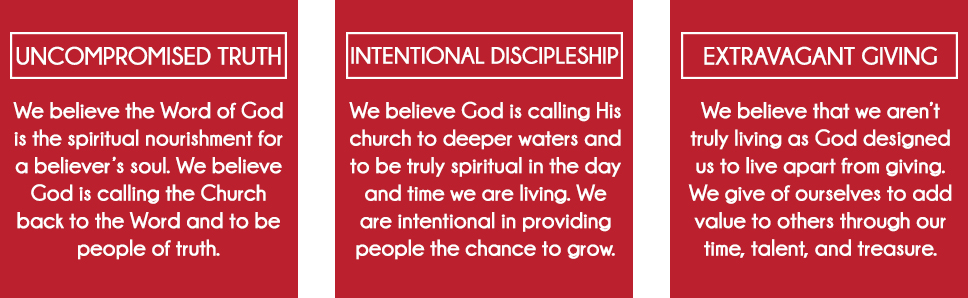 Uncompromised Truth, Intentional Discipleship, Extravagant Giving